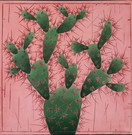 Cactus fond rose (30x35 cm)