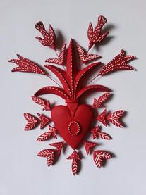 Ex voto cœur rouge oiseaux