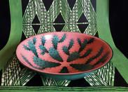 Plat en bambou cactus rose