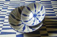 Plat en bambou les bleus indigo