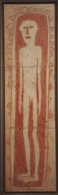 L'homme rouge (35x128 cm)