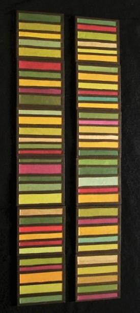carreaux rayés coloriés