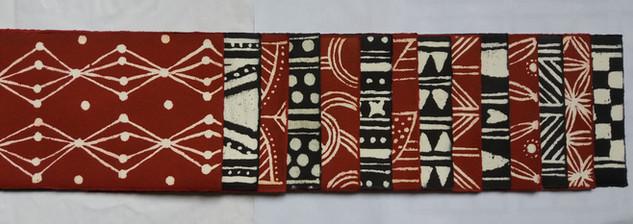 Papiers batiks détail