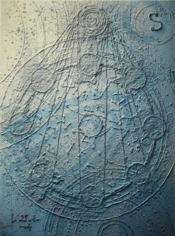 Le soleil et ses lunes ( 100 x 125 cm)