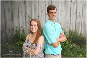 Copake, NY Senior Photographer | Shane & Kaya's senior sibling sessions