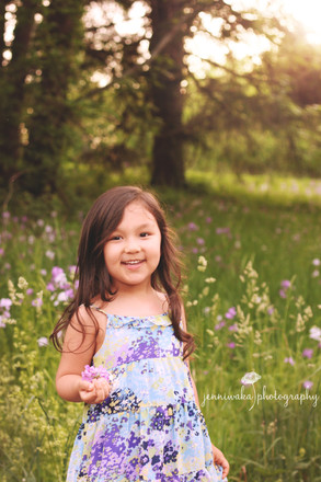 Hudson Valley child photographer: Maya among the flowers