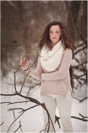 Hudson Valley Teen Photographer   Kelcie's Snowy Session