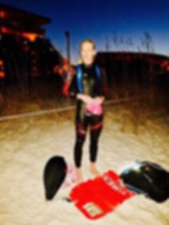 Shannon Coates Ironman Blue Seventy wetsuit