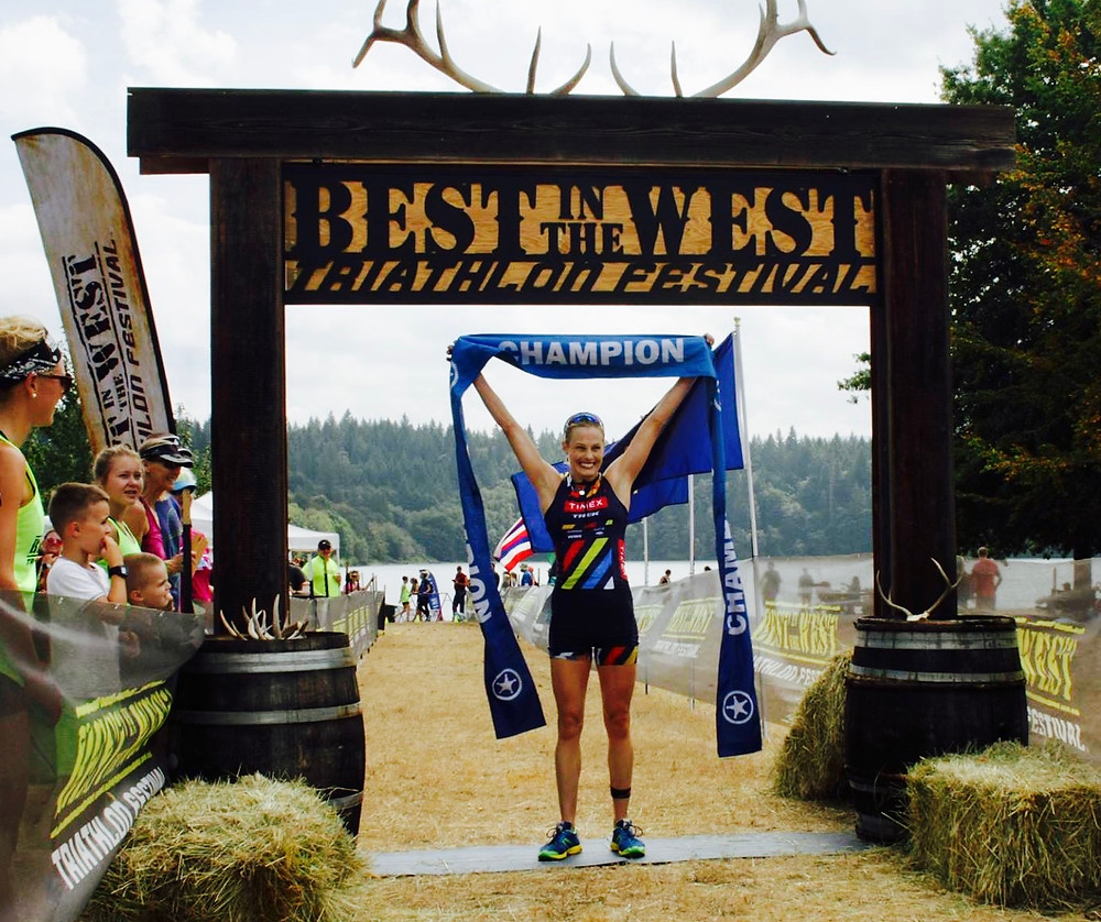 Shannon Coates Best in the West half ironman champion