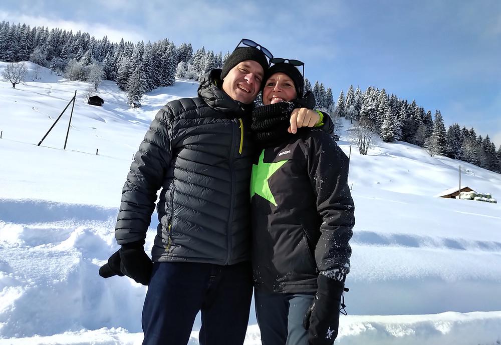 Jeannette & Tomi in den Bergen 2020 Brainstorming Woche