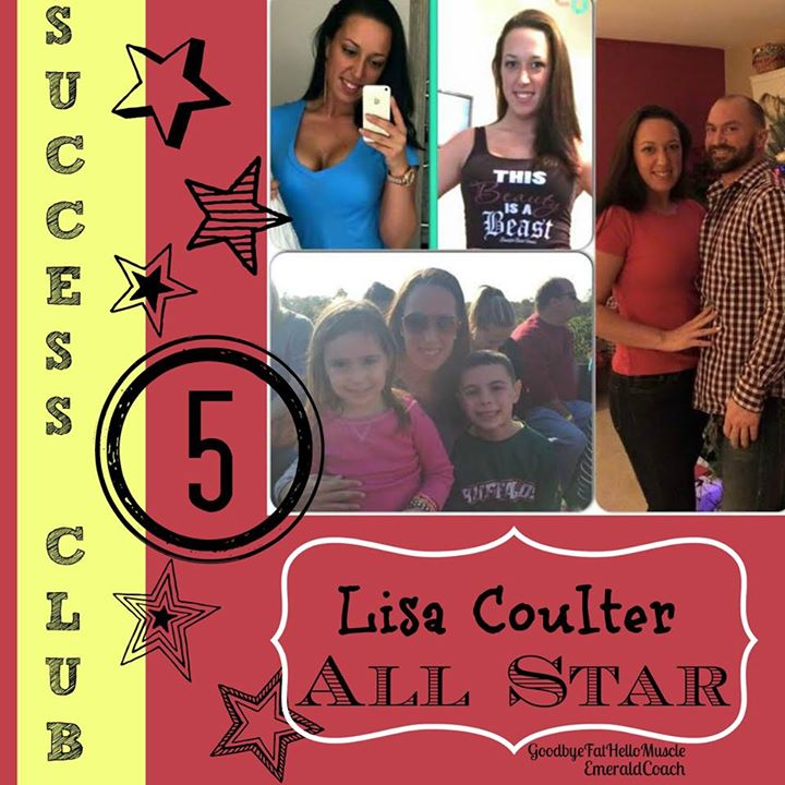 Facebook - Congratulations to one of my Goodbye Fat Hello Muscle Coaches Lisa Co