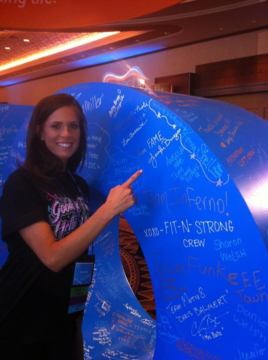 """Signing the Wall of Letters """"COMMIT"""" at Summit"""