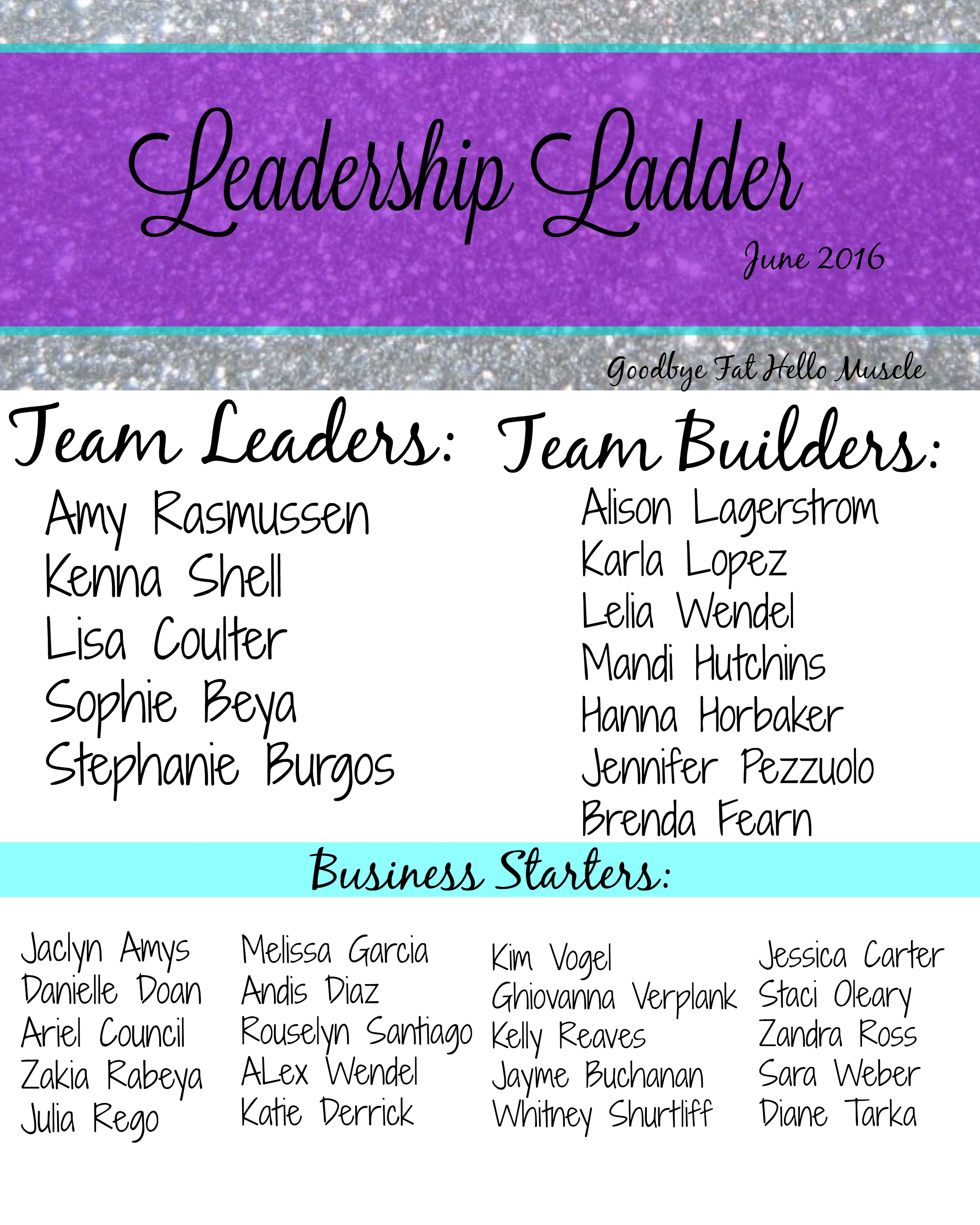 Look at all these LEADERS!
