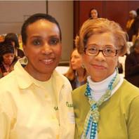 Chums President Cheryl Bobo and Joyce Persaud