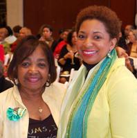Chums Recording Secretary Mary Davis and Chums Treasurer Shana Brewton