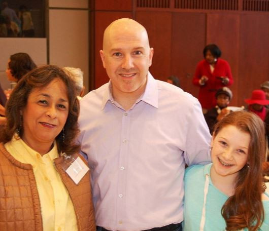 Event Chairwoman Janet Banks and David Regelbrugge with Daughter Eve