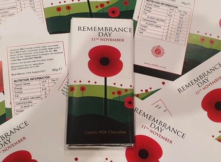 Zeolla is marking this year's Remembrance Sunday with a limited edition bar of milk chocolate..