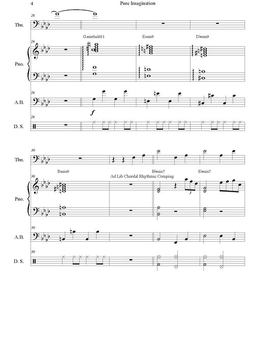 Solo Repertoire - Imagination for Solo Trombone and Rhythm Section