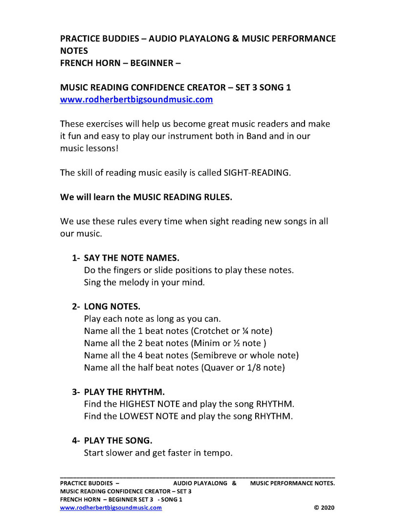 MUSIC CONFIDENCE CREATOR - SET 3 Song 1