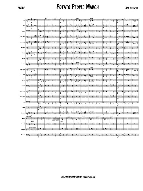Beginner Concert Band - POTATO PEOPLE MARCH - Digital Download