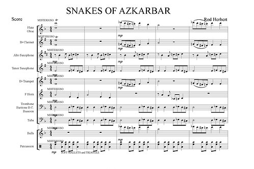 Intermediate Concert Band - SNAKES OF AZKABAN - PDF Digital Download