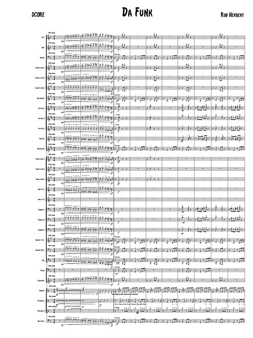 Symphonic Winds - DA FUNK - PDF Digital Download