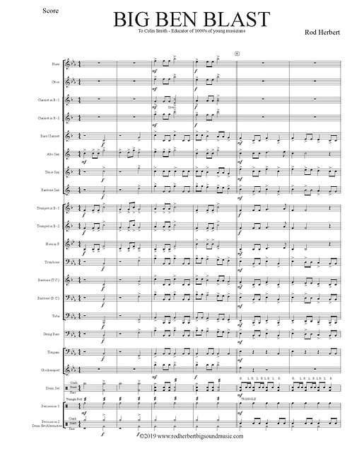Banda de concierto para principiantes - BIG BEN BLAST - Descarga digital en PDF