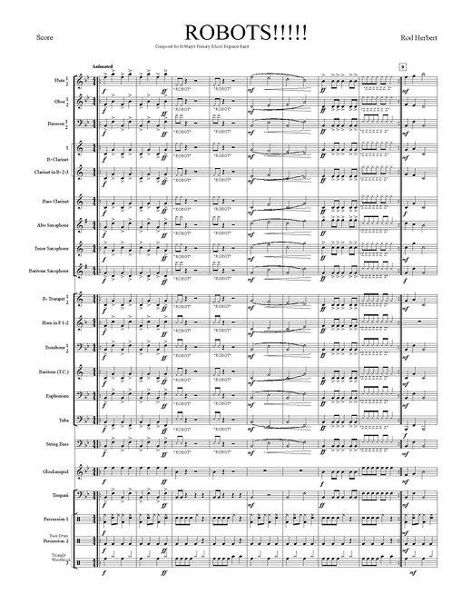 Banda de Concierto para Principiantes - ROBOTS !! - Descarga digital PDF