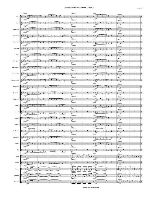 Vientos Sinfónicos - GREGORIAN VICTIMAE 1100.AD PDF Descarga digital