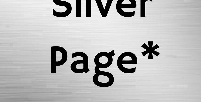 Silver Page Ad*
