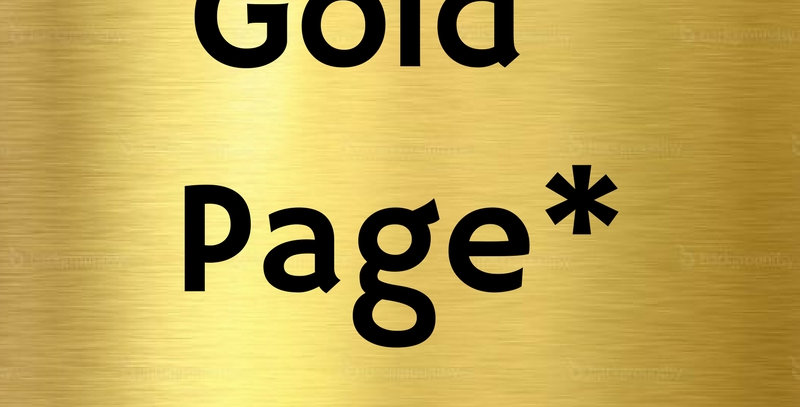 Gold Page Ad*