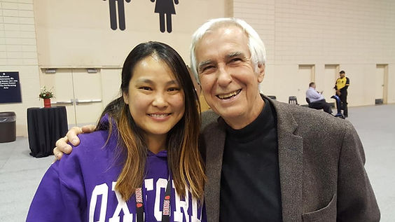 Dog trainer from Singapore, Anna Koo with Dr Ian Dunbar