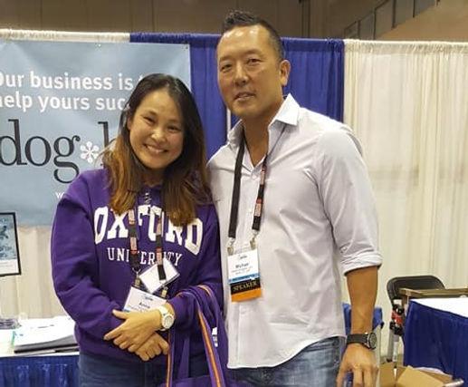 Singapore dog traner, Anna Koo with dog aggression specialist, Michael Shikashio