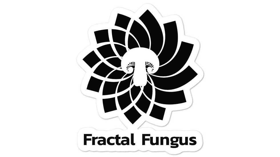 Fractal Fungus Bubble-free stickers