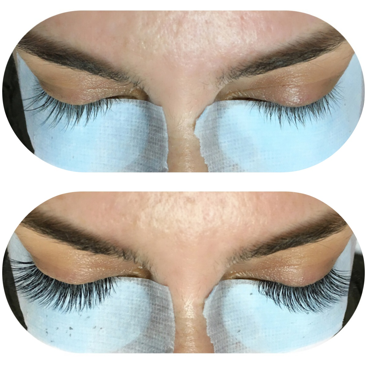 Before & After Volume Lashes