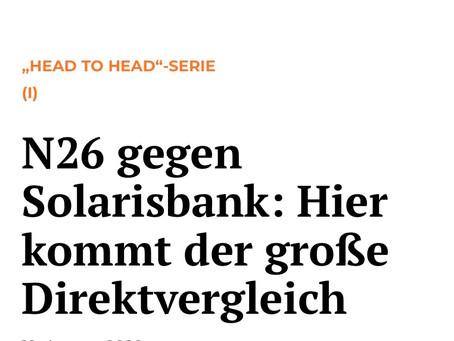 N26 gegen Solarisbank: Hier kommt der große Direktvergleich der Finanz-Szene