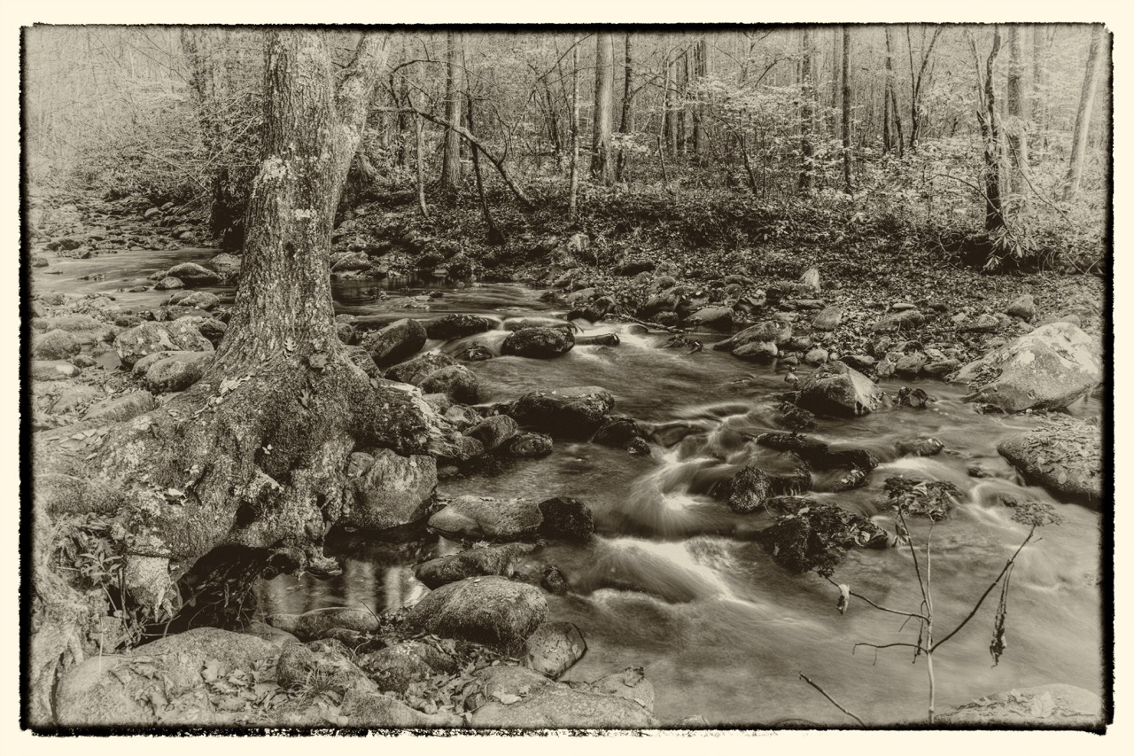 Smokies Stream - Antique edit