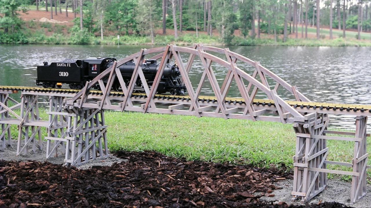 """-Garden-Texture 50""""Arch Bridge"""
