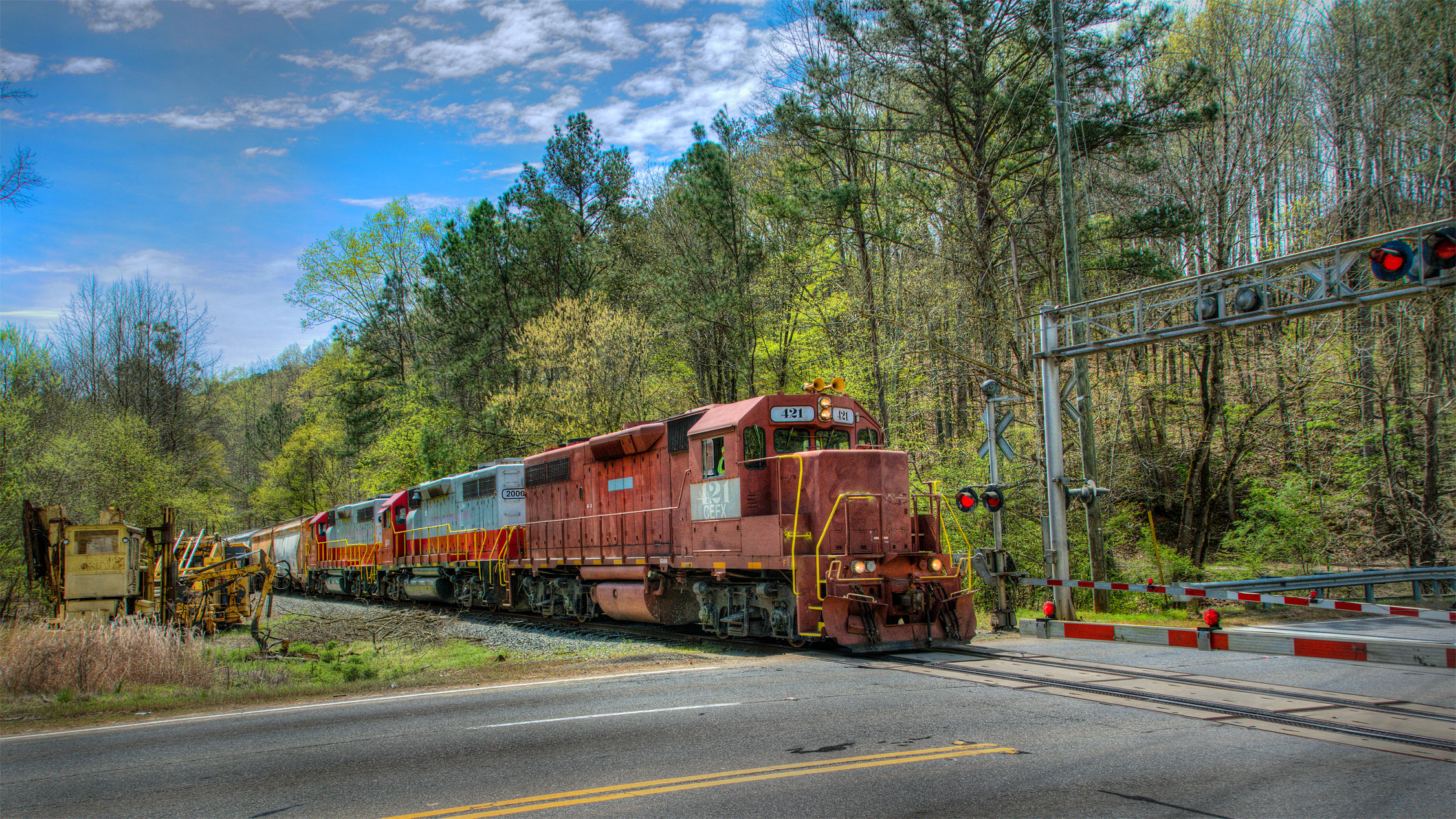 Ore Train Across 140 Crossing, Canton, GA