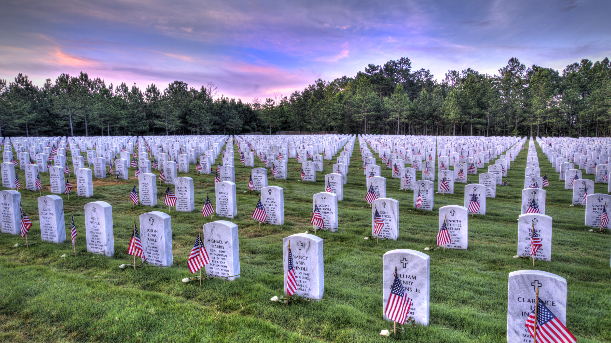 Georgia National Cemetery Sunrise