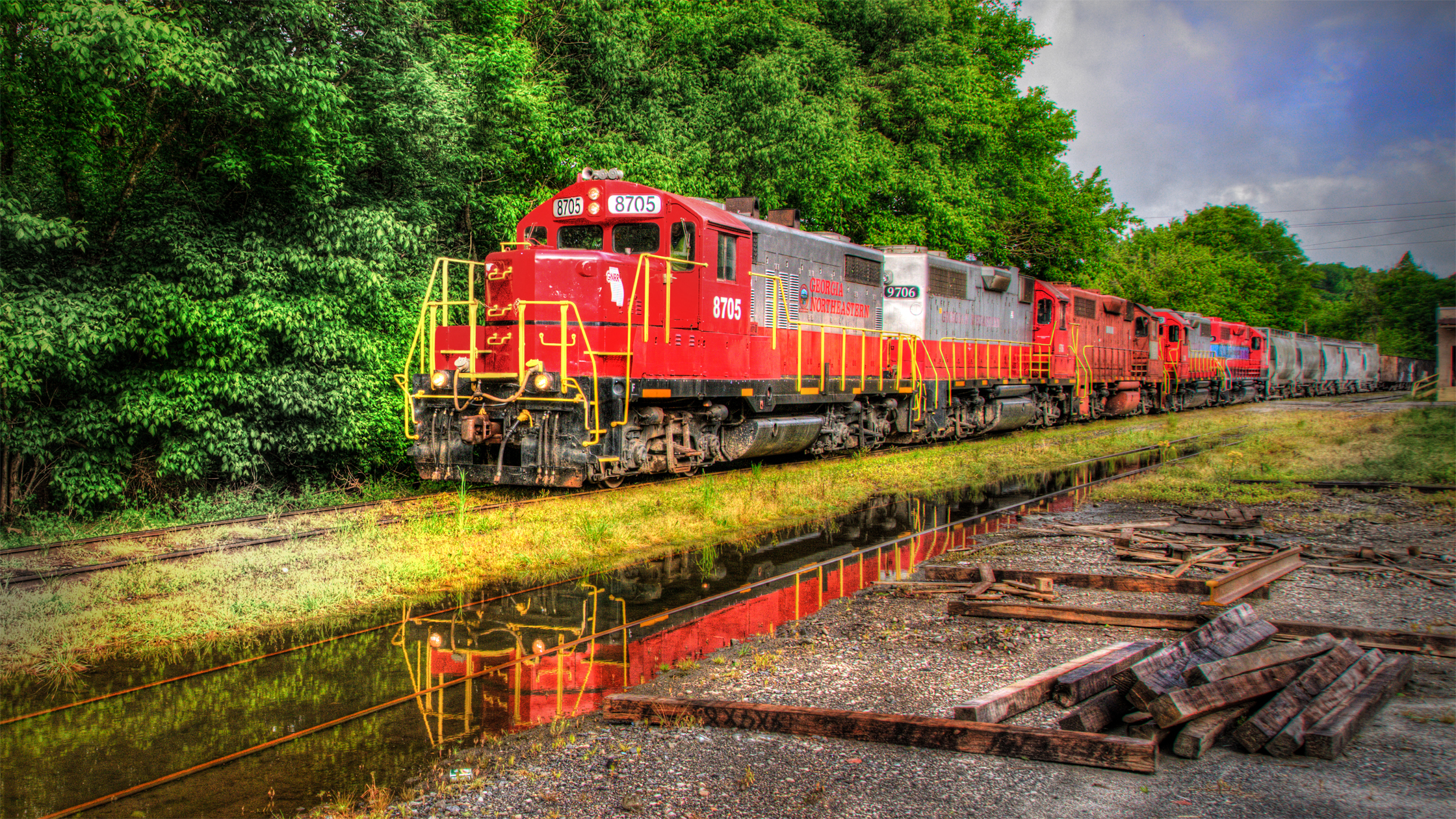 Engine Reflections - Canton, GA