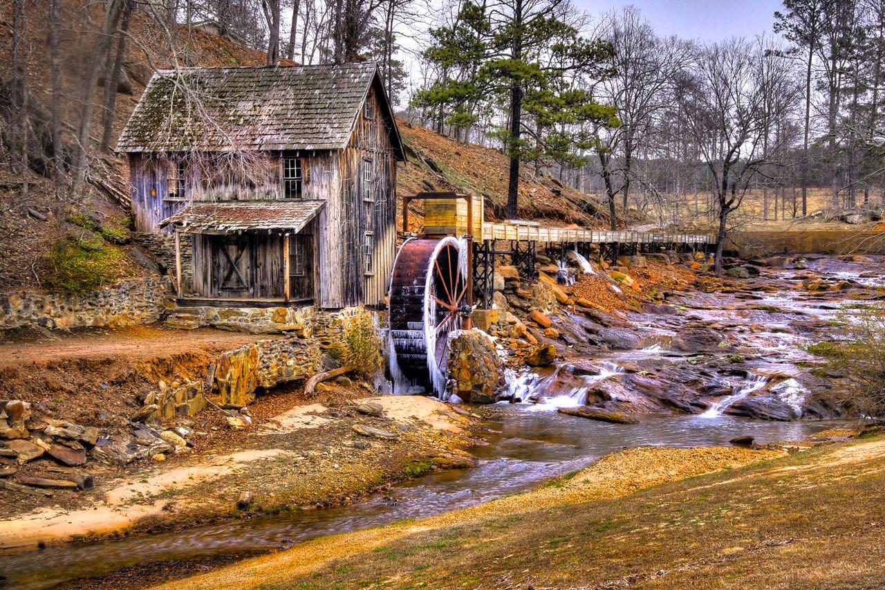 Gresham Mill in Winter, Canton, GA