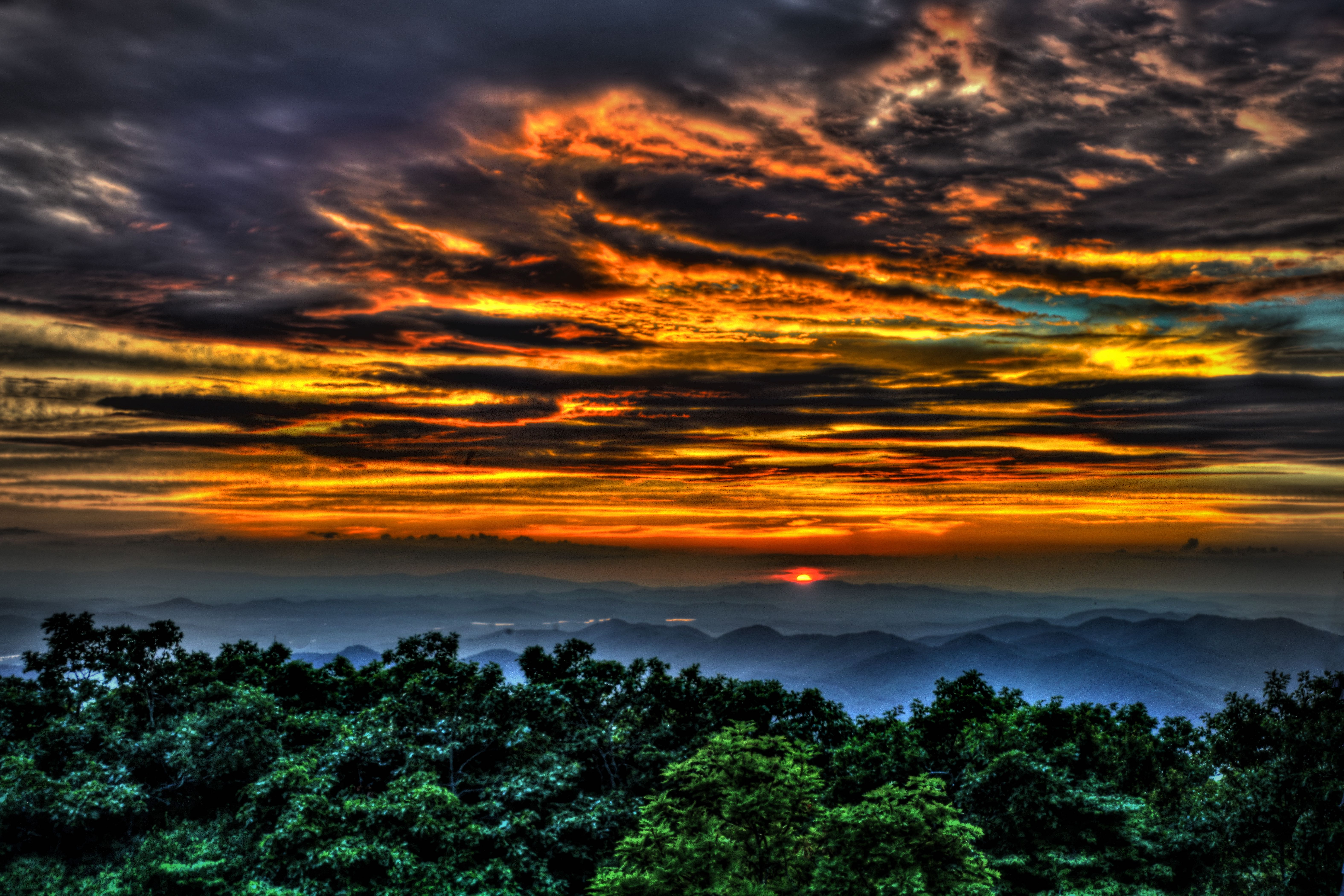 Brasstown Bald Sunset
