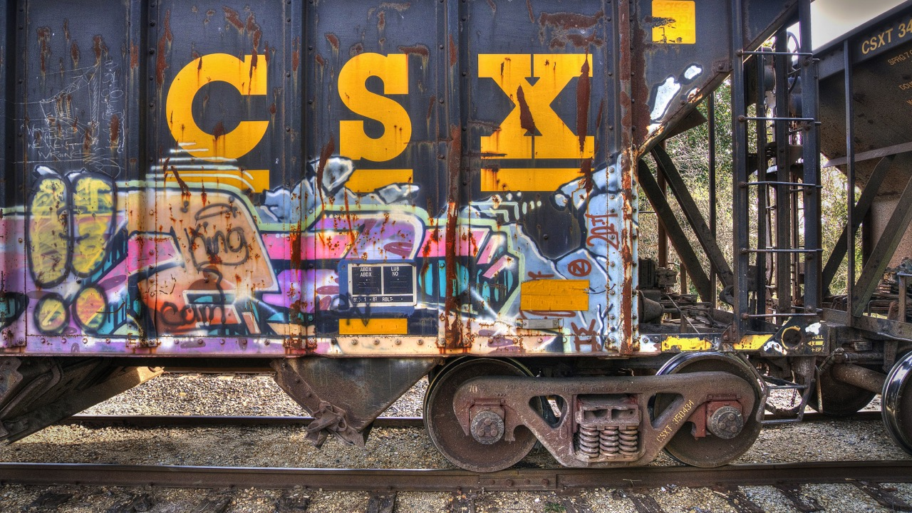 CSX Graffiti at Tate Shops