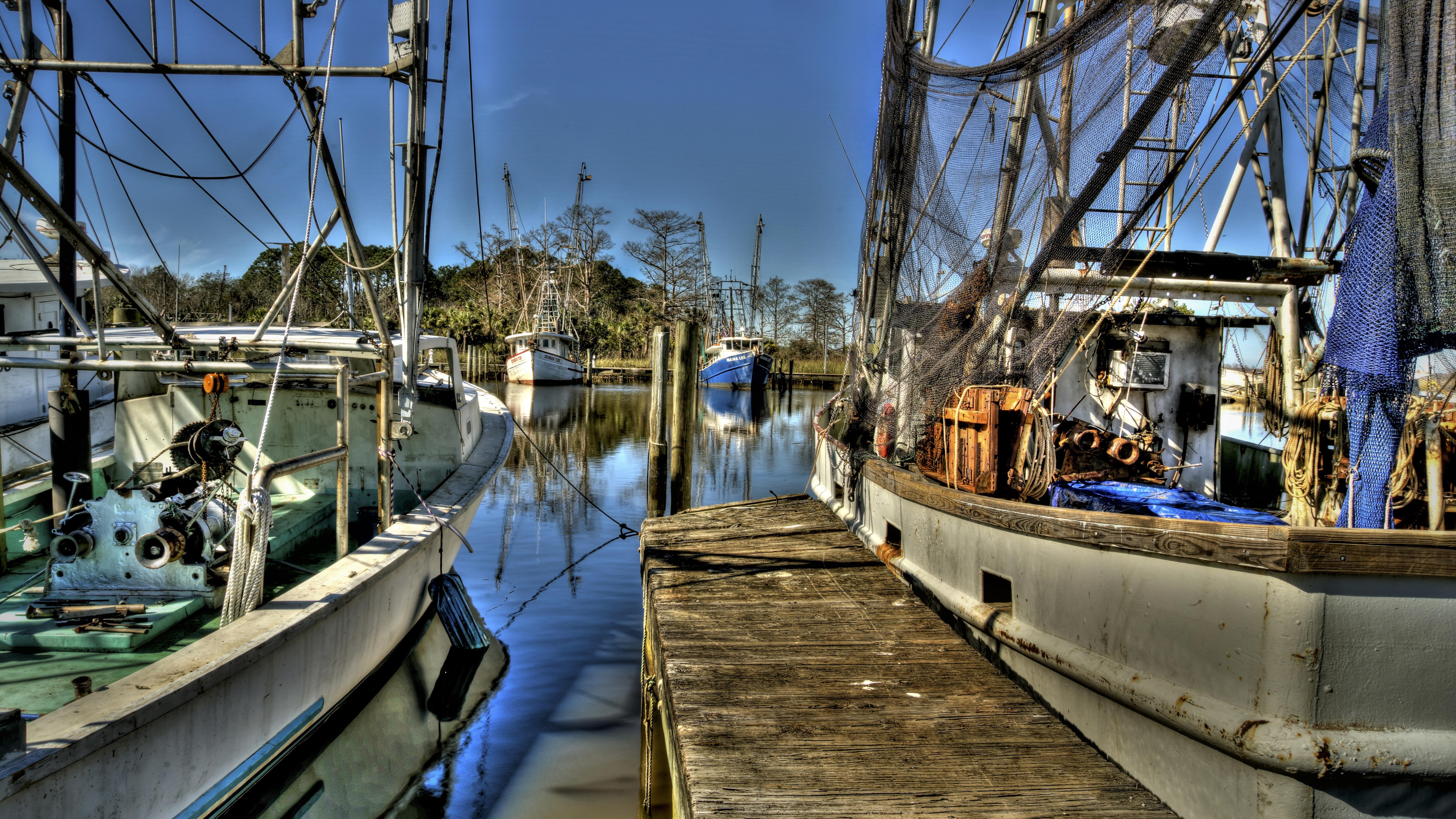 """Blue Boat Bayou"" Apalachicola, FL"