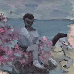 Un garçon et les fleures