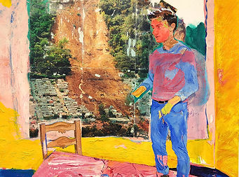 Autoportrait sur table 130x162cm 2020.29