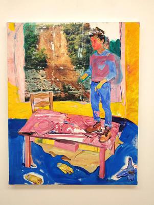Autoportrait sur table