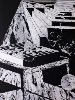 Labyrinthe 2014 huile sur toile 160x120cm