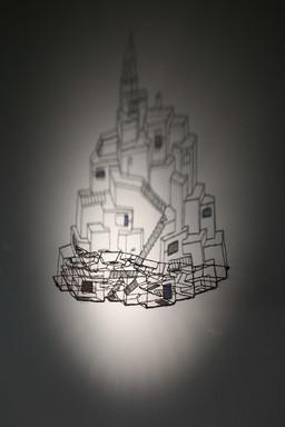 12. 호흡(breathing), 동선, 스테인드글라스, 그림자, 35×61×12cm, 2012.JPG
